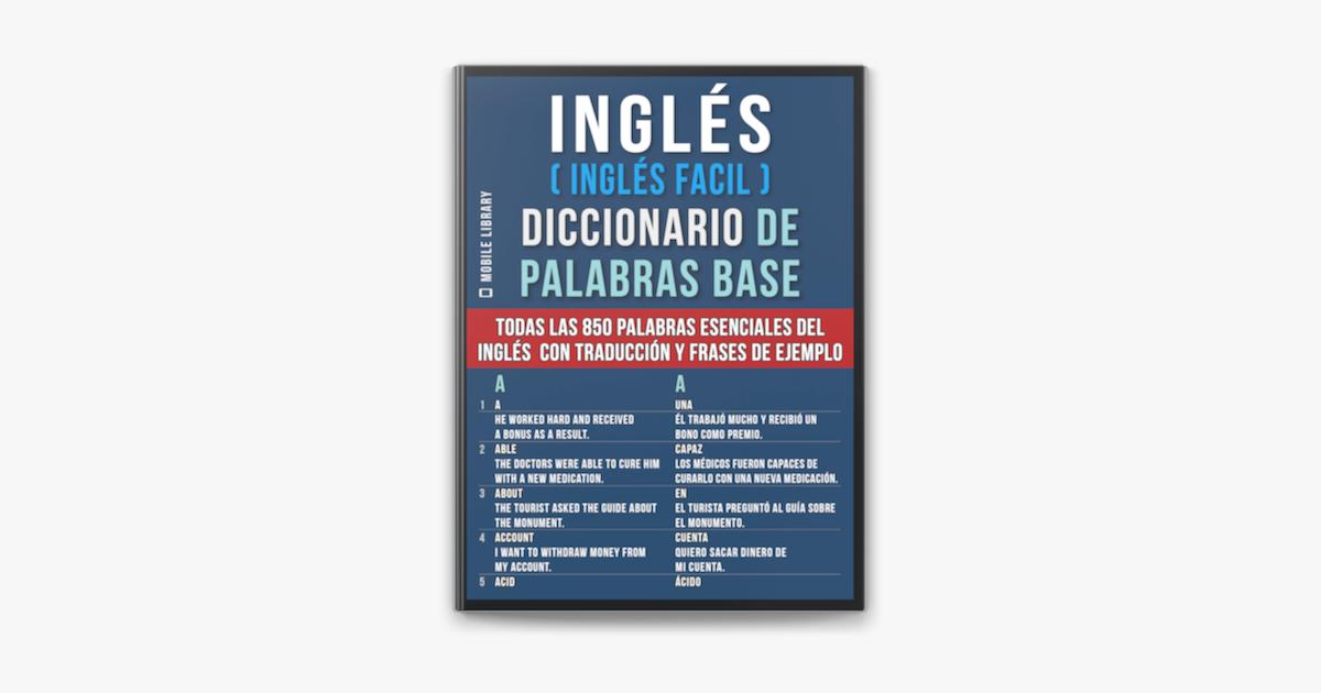 Inglés Inglés Facil Diccionario De Palabras Base On Apple Books