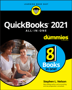 QuickBooks 2021 All-in-One For Dummies Book Cover
