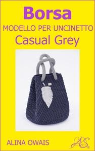 Borsa Modello per Uncinetto - Casual Grey Book Cover