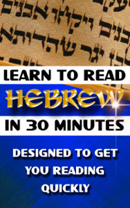 Learn to Read Hebrew in 30 Minutes Copertina del libro