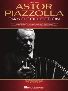 Astor Piazzolla Piano Collection Book Cover