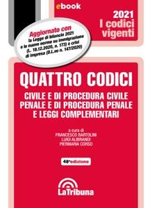 Quattro codici di Luigi Alibrandi, Francesco Bartolini & Piermaria Corso Copertina del libro