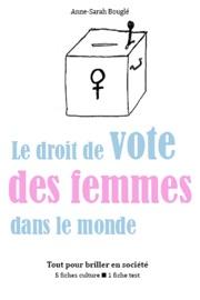 Le Droit De Vote Des Femmes Dans Le Monde