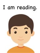 I am reading.