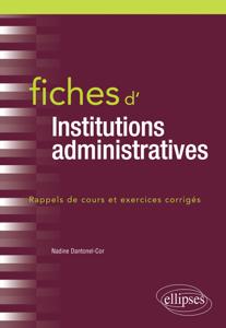 Fiches d'Institutions administratives Couverture de livre