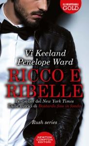 Ricco e ribelle da Vi Keeland & Penelope Ward Copertina del libro