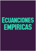 ECUACIONES EMPIRICAS