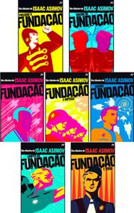 Livro Fundação Volumes 1 Ao 7 - Isaac Asimov:  Fundação, Prelúdio à Fundação, Origens da Fundação, Fundação e Império, Segunda Fundação, Limites da Fundação, Fundação e Terra. Book Cover