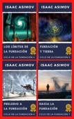 Ciclo de la Fundación Colección 4 Libro: Los límites de la Fundación, Fundación y Tierra, Preludio a la fundación, Hacia la Fundación. Book Cover