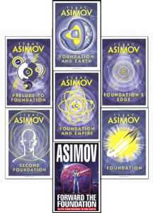 The Complete Isaac Asimov's Foundation Series : Foundation, Foundation and Empire, Second Foundation, Foundation's Edge, Foundation and Earth, Prelude to Foundation, Forward the Foundation. Book Cover