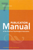 Publication Manual of the American Psychological Association: 7th Edition Book Cover
