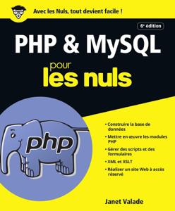 PHP et MySQL pour les Nuls grand format, 6e édition La couverture du livre martien