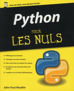 Python pour les Nuls La couverture du livre martien