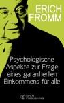 Psychologische Aspekte Zur Frage Eines Garantierten Einkommens Fr Alle