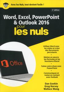Word, Excel, PowerPoint et Outlook 2016 pour les Nuls mégapoche, 2e édition La couverture du livre martien