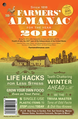 2019 Farmers' Almanac - Peter Geiger book