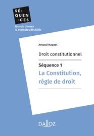 Droit Constitutionnel S Quence 1 La Constitution R Gle De Droit