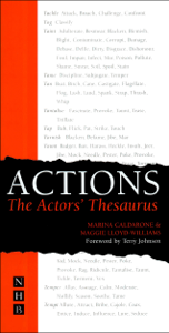 Actions: The Actors' Thesaurus Libro Cover