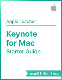 Keynote for Mac Starter Starter Guide macOS High Sierra book