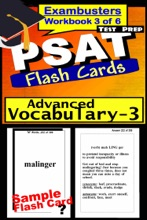 PSAT Test Prep Advanced Vocabulary 3 Review--Exambusters Flash Cards--Workbook 3 of 6
