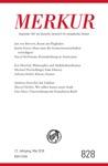 MERKUR Gegrndet 1947 Als Deutsche Zeitschrift Fr Europisches Denken - 2018-05