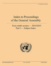 Index To Proceedings Of The General Assembly 2014/2015. Part I
