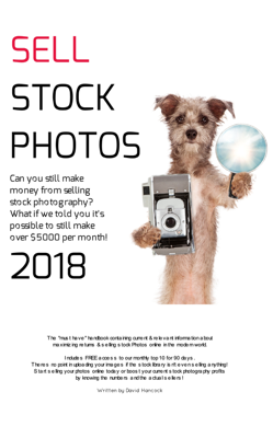 How to sell Stock Photos in 2018 - David Hancock book