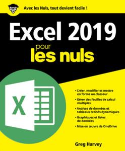 Excel 2019 pour les Nuls La couverture du livre martien