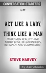 Act Like A Lady Think Like A Man Expanded Edition What Men Really Think About Love Relationships Intimacy And Commitment By Steve Harvey Conversation Starters