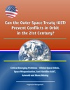 Can The Outer Space Treaty OST Prevent Conflicts In Orbit In The 21st Century Critical Emerging Problems - Orbital Space Debris Space Weaponization Anti-Satellite ASAT Asteroid And Moon Mining