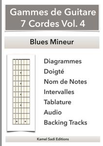 Gammes de Guitare 7 Cordes Vol. 4 La couverture du livre martien