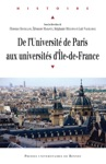 De Luniversit De Paris Aux Universits Dle-de-France