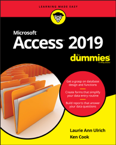 Access 2019 For Dummies La couverture du livre martien