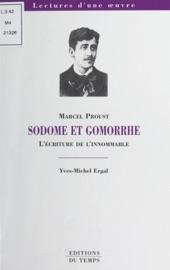 «SODOME ET GOMORRHE», MARCEL PROUST : LéCRITURE DE LINNOMABLE