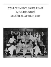 Yale Women's Varsity Swim Team Mini-Reunion Program 2017