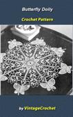 Butterfly Doily Vintage Crochet Pattern eBook