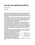 Are the new AirPods worth it?