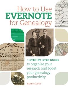 How to Use Evernote for Genealogy Book Cover