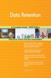 Download Data Retention A Complete Guide - 2020 Edition