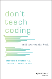 Don't Teach Coding Boekomslag