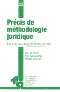 Précis de méthodologie juridique La couverture du livre martien