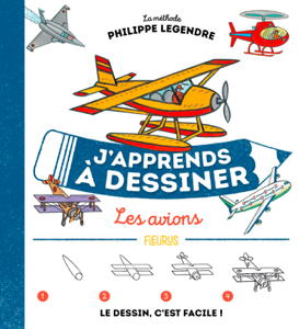 J'apprends à dessiner les avions Couverture de livre