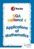 TeeJay SQA National 4 Applications Of Mathematics