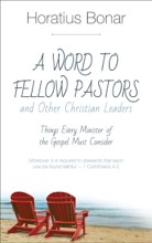 A Word to Fellow Pastors and Other Christian Leaders