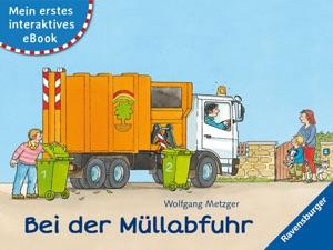 Mein erstes interaktives eBook: Bei der Müllabfuhr Book Cover
