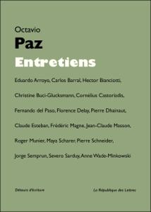 Entretiens avec Octavio Paz La couverture du livre martien