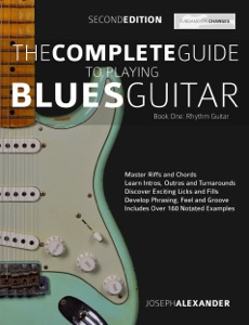 The Complete Guide to Playing Blues Guitar Rhythm Book Cover