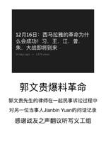 郭文贵先生的律师在一起民事诉讼过程中对另一位当事人Jianbin Yuan的问话记录