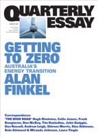 Alan Finkel - Quarterly Essay 81 Getting to Zero artwork