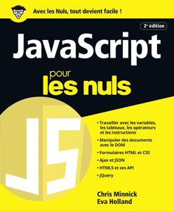 JavaScript pour les Nuls grand format, 2e édition La couverture du livre martien